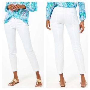 Lilly Pulitzer Kelly Textured Skinny Pants/ 2